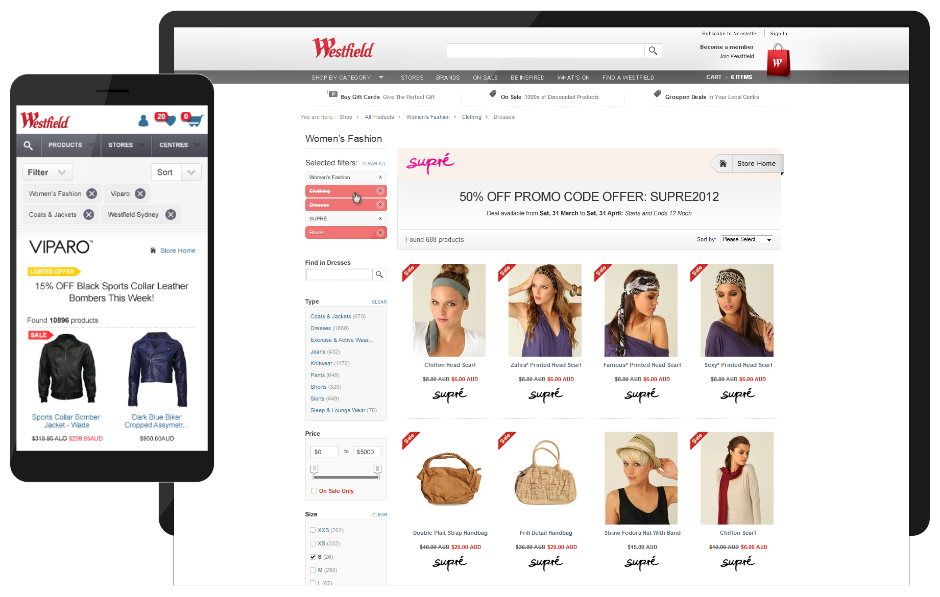 Westfield Product Finder